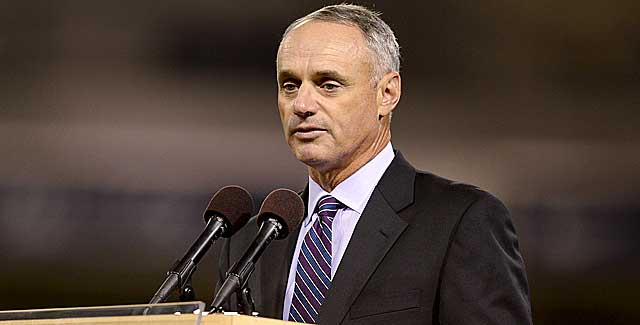 Rob Manfred had to wait for a second vote of owners to be elected. (Getty Images)