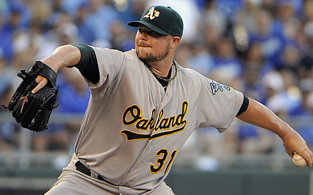 Jon Lester doesn't rule out a return to Boston, though that move seems unlikely.  (USATSI)