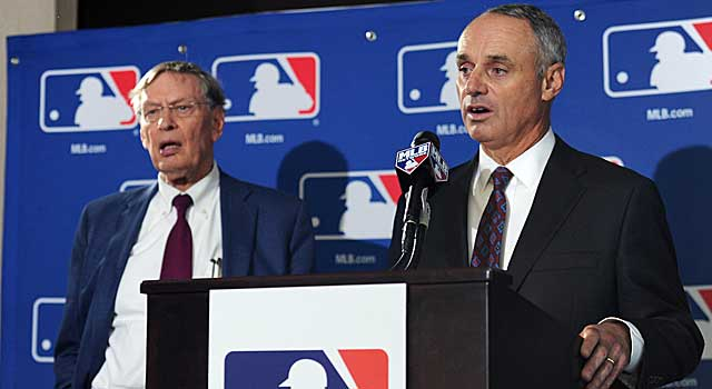 Rob Manfred, Bud Selig's right-hand man, endured a lengthy vote on the way to his new gig. (USATSI)