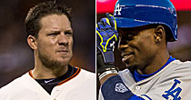 Jake Peavy/Dee Gordon (Getty Images)