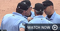 Umpires in KC game (screen shot)