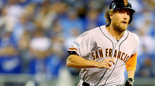 Hunter Pence takes turn as Giants' offensive star