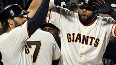 Giants even World Series