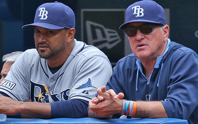 Dave Martinez served as Joe Maddon's bench coach in Tampa for seven seasons. (Getty Images)