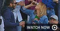 Cubs fan beer chug (Screen grab)