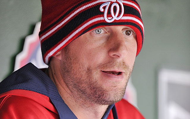 Max Scherzer on pitchers at the plate: People want to see Big Papi hitting, not me. (Getty Images)
