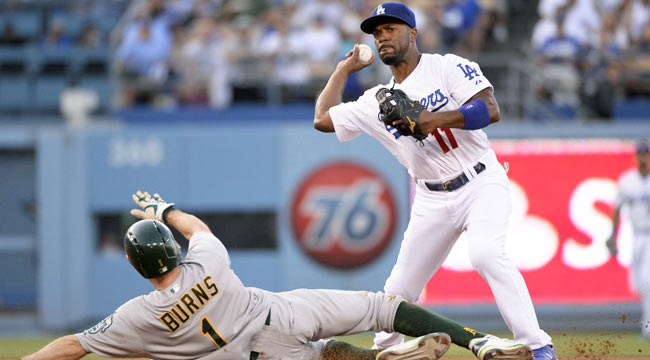 Live: Puig homer puts Dodgers on top of A's