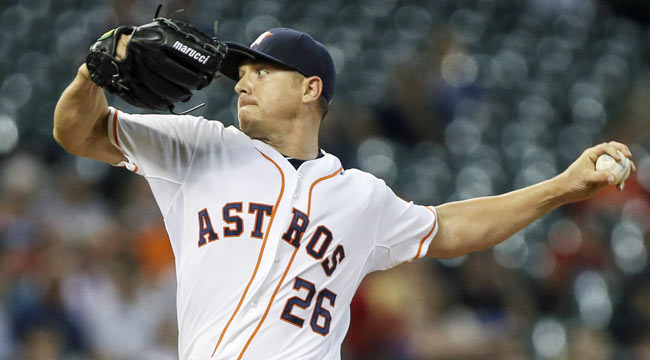 Live: Astros look to back Kazmir in home debut