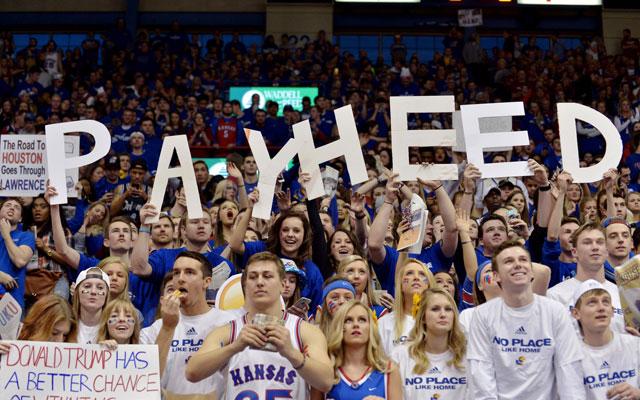 Kansas fans had a great time watching the Jayhawks defeat Kentucky. (USATSI)