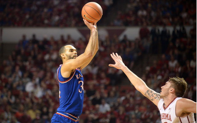 Perry Ellis and the Kansas Jayhawks are the new No. 1 team in the Top 25 (and one). (USATSI)