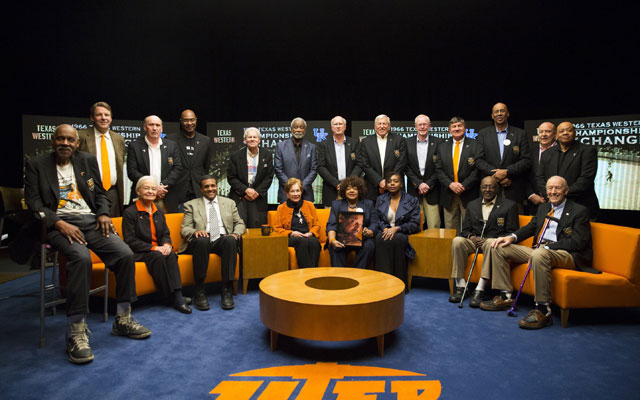 Players, staff and families of the 1966 Texas Western team gathered in El Paso earlier this year.. (UTEP Athletics)