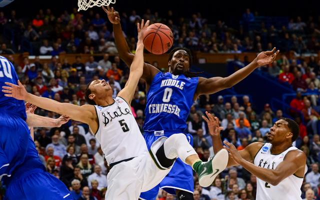 Middle Tennessee was tough on Michigan State's Denzel Valentine. (USATSI)