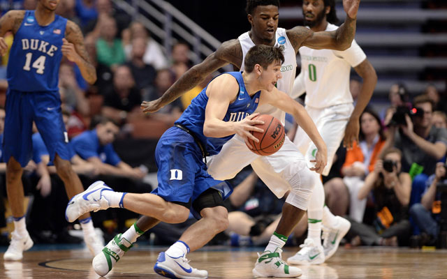 Grayson Allen will be a key player for the Blue Devils if he returns next season. (USATSI)