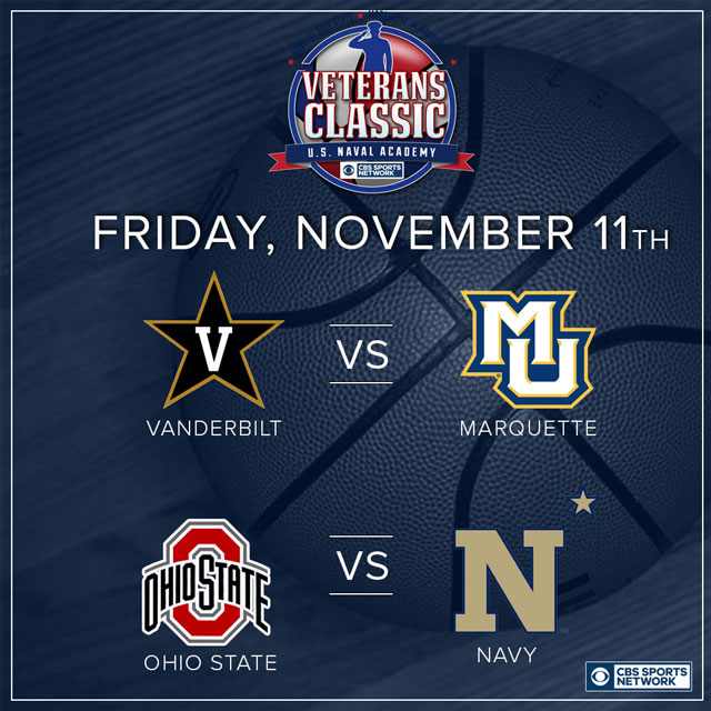 2016 Veterans Classic set: Vandy vs. Marquette, Ohio State ...
