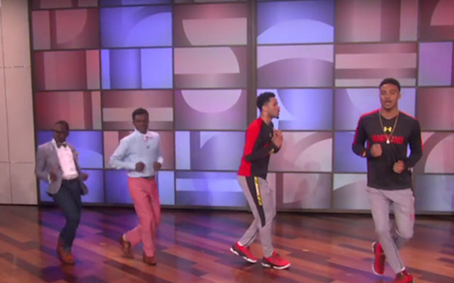 Maryland basketball players do 'running man' on 'Ellen'