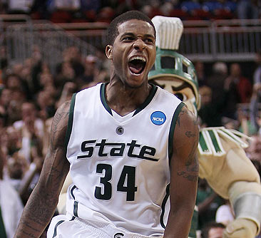 Korie Lucious and MSU face Tennessee on Sunday.