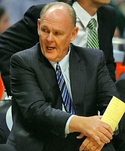 Nuggets coach George Karl has fought and beaten cancer twice, most recently last season. (US Presswire)