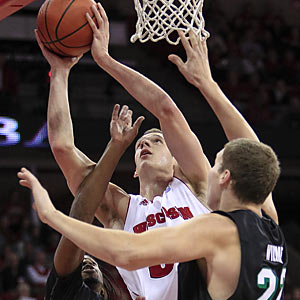 Wisconsin's Jon Leuer is one -- if not the best -- player to watch in what should be a highly entertaining Old Spice Classic. (AP)