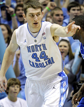 Tyler Zeller was one of many future pros on display Saturday in Chapel Hill. (AP)