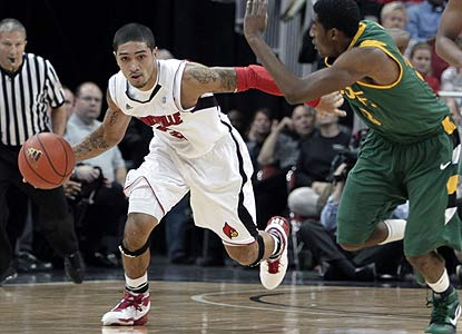 Peyton Siva and the Cardinals rely on their defense -- allowing just five second-half field goals -- to beat the Dons. (AP)