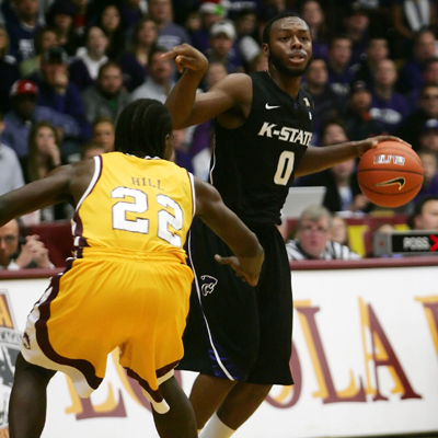 Jacob Pullen of Kansas State puts up 19 points to help lift his team over a tough Loyola crew. (Getty Images)