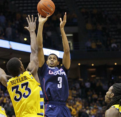 As Kemba Walker struggles, freshman Jeremy Lamb picks up his game, posting a career-high 24 points.  (US Presswire)