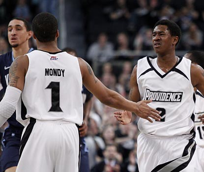 Marshon Brooks (right) pours in 20 points to lead the Friars to a second consecutive win over a ranked opponent.  (US Presswire)