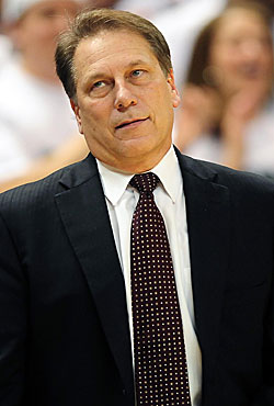 The Spartans have lost four of five, prompting this from answer-man Izzo: 'I'm just confused.' (US Presswire)