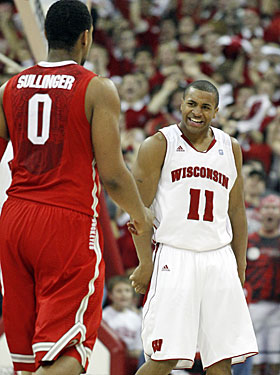 Jared Sullinger's Buckeyes can't stop Jordan Taylor once he gets hot in the second half. (AP)