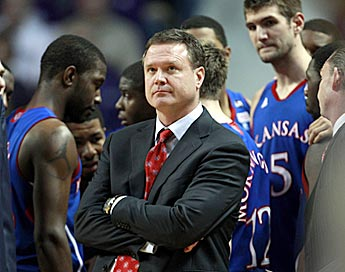 Kansas coach Bill Self knows how precarious it can be up there at the top of the polls. (AP)