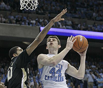 Tyler Zeller makes his presence felt underneath, scoring 18 points on 6-of-9 shooting and grabbing nine rebounds.  (AP)