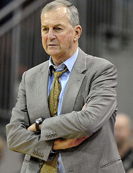 Jim Calhoun will have to serve a three-game suspension next season for his role in the recruiting violations. (US Presswire)