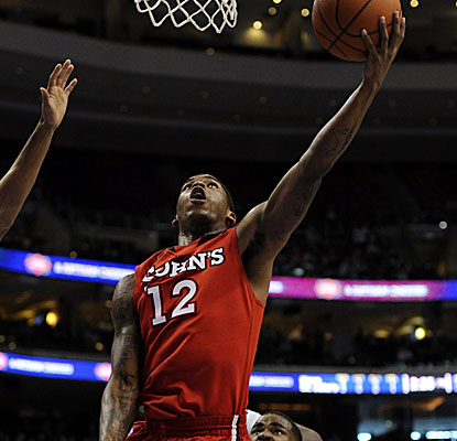 St. John's guard Dwight Hardy lays it in as the 23rd-ranked Red Storm push past Villanova. (AP)