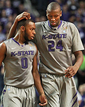 After early-season suspensions, Kansas State stars Jacob Pullen and Curtis Kelly try to keep the Wildcats on a roll. (AP)