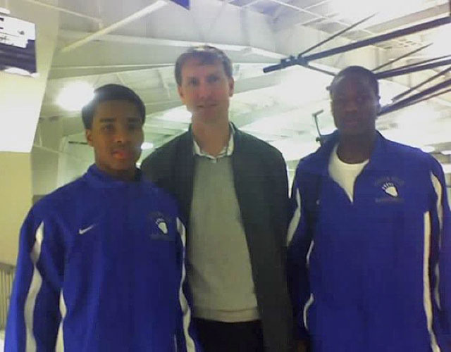 High school juniors Trey Smith and Archie Goodwin with John Pelphrey in December. (Provided to CBSSports.com)