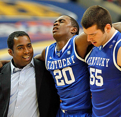 Kentucky's already thin lineup takes a hit with Doron Lamb's injury that could force him to miss the SEC title game.  (Getty Images)