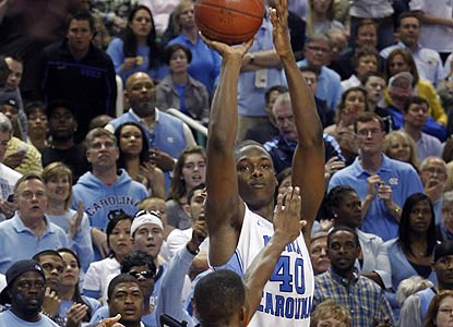 As UNC stages another comeback, Harrison Barnes becomes the first player to score 40 in an ACC tourney game since '95. (AP)