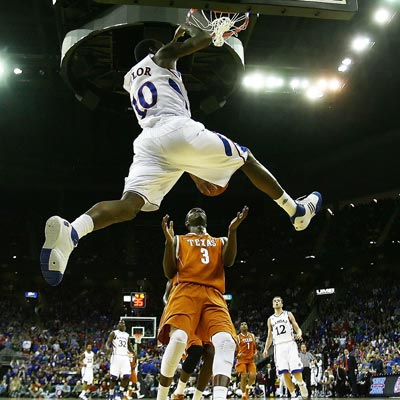 Tyshawn Taylor scores a season-high 20 points while leading Kansas to another Big 12 title over Texas.  (Getty Images)