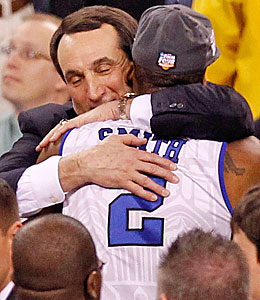 Do Mike Krzyzewski and Nolan Smith have a Duke repeat in them? (Getty Images)