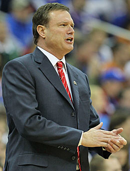 Bill Self has already coached Kansas to a national title as a No. 1 seed. (Getty Images)