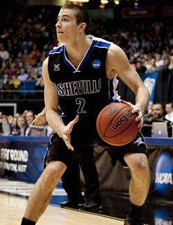 With one step-back 3, Asheville's Matt Dickey introduced himself to the nation. (US Presswire)