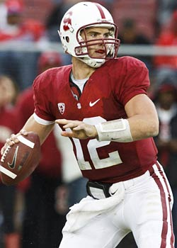 Andrew Luck was projected to be the No. 1 pick in the NFL Draft if he would have come out. (US Presswire)