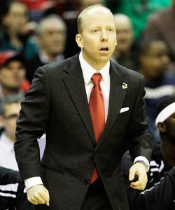 Cincinnati coach Mick Cronin leads his team to its first NCAA tournament win since 2005. (Getty Images)
