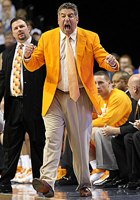 Known for his effusive style on the sidelines, polls show Bruce Pearl remains popular among Vols fans. (Getty Images)