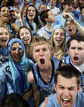 Beating Duke in the Final Four for UNC fans? Great. Losing to Duke in the Final Four? An absolute nightmare. (US Presswire)