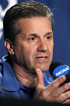 John Calipari is constantly savaged, yet somehow Jim Calhoun skates free. (AP)