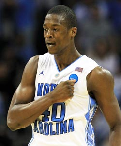 Harrison Barnes averaged 15.7 PPG his first year at UNC. (Getty Images)