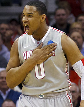 Jared Sullinger is staying in Columbus, which is a boon for Thad Matta. (US Presswire)