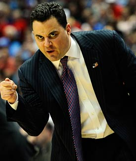 Miller is going to stay at Arizona and continue to head the resurgent Wildcats. (Getty Images)