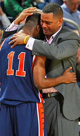Back in the game, Todd Bozeman has twice coached Morgan State into the NCAA tournament. (Getty Images)